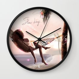 Slow days in Guadeloupe Wall Clock