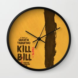 Kill Bill, Quentin Tarantino Movie Poster, Alternative film playbill Art, Uma Thurman, Lucy Liu Wall Clock