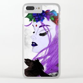Modern Teen Titans Raven Clear iPhone Case