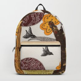 Romantic autumnal grove Backpack