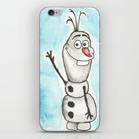 olaf iPhone & iPod Skins featuring Watercolor Olaf by christinarashel