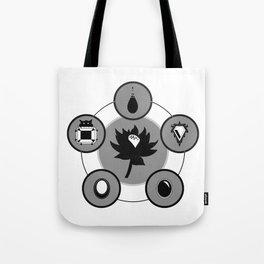 The Power Six - Minimalist White Tote Bag