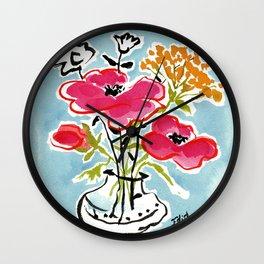 Poppy Impromptu Wall Clock