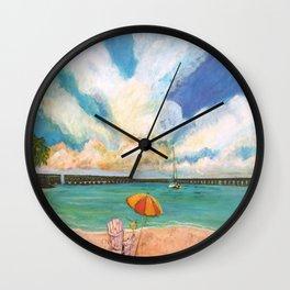 Seven Mile Bridge Wall Clock