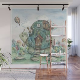 The Tortoise and the Hare Wall Mural