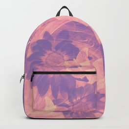 Ghost butterflies in an abstract purple and pink landscape Backpack