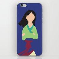 mulan iPhone & iPod Skins featuring Mulan by Adrian Mentus