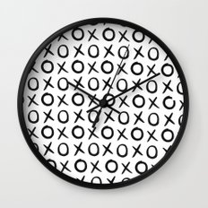 Love XO Black and White Wall Clock