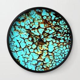 Copper crackle Wall Clock