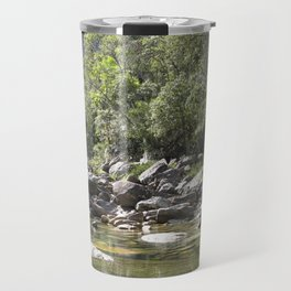Casca d'Anta Waterfall, near the spring of São Francisco River. Travel Mug
