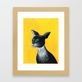 Tuxido Cat Framed Art Print