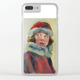 The little winter girl Clear iPhone Case