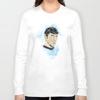 spock Long Sleeve T-shirts featuring Spock by Josh Ln