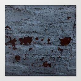 Textured Brick Blue Canvas Print