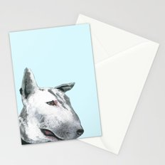 Bullterier, printed from an original painting by Jiri Bures Stationery Cards