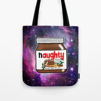 nutella Tote Bags featuring NAUGHTY NUTELLA by SteffiMetal