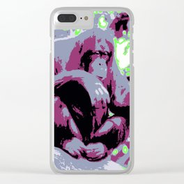 Pop Art Orang Utan Clear iPhone Case