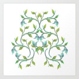 Watercolor Leaves III Art Print