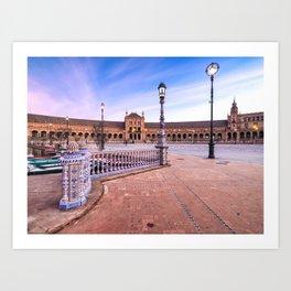 Plaza de España, Sevilla, Spain 3 Art Print