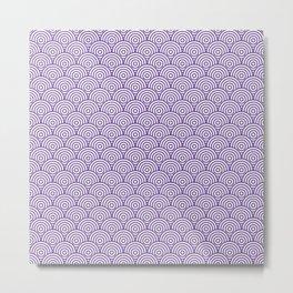 Purple Concentric Circle Pattern Metal Print
