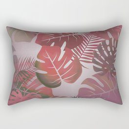 Tropical Autumn Leaves Rectangular Pillow