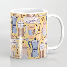 Coffee Love on Yellow Coffee Mug