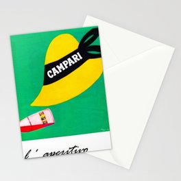 Extremely rare Campari Aperitif 'l aperitivo bullet' Advertisement Print Stationery Cards