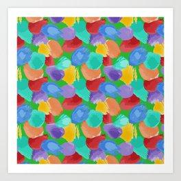 Blobs Pattern Art Print