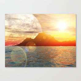 Sunny day on alien planet Canvas Print