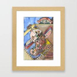 «Bird with wooden wings» – Gunnar Molvær Framed Art Print