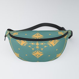 Gothic Trellis Teal Fanny Pack