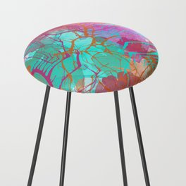 color splatter watercolor digital print Counter Stool