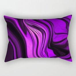 Purple Abstract Desgn Artwork Rectangular Pillow