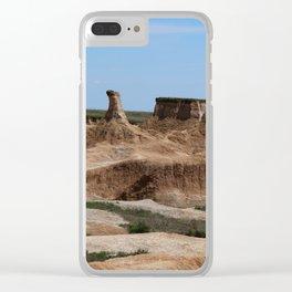 Badlands Rockformation Clear iPhone Case