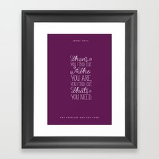 The Princess and the Frog Framed Art Print