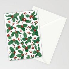 Holly pattern Stationery Cards