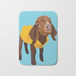 Goaty McGoatface - yellow Bath Mat