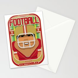 American Football Red and Gold - Enzone Puntfumbler - Seba version Stationery Cards