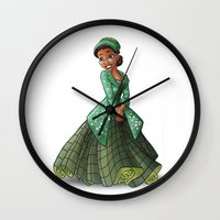 parks Wall Clocks featuring Princess Rosa Parks (Trumble Cartoon) by Trumble Art (David Trumble, Cartoonist a