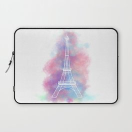 Eiffel Tower Water Color Sketch Laptop Sleeve