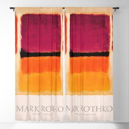 Mark Rothko Exhibition poster 1979 Blackout Curtain
