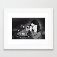 universe Framed Art Prints featuring Universe by Manca Flajs