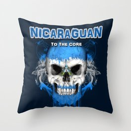 To The Core Collection: Nicaragua Throw Pillow