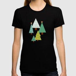 Holly Jolly Christmas Trees - Green T-shirt