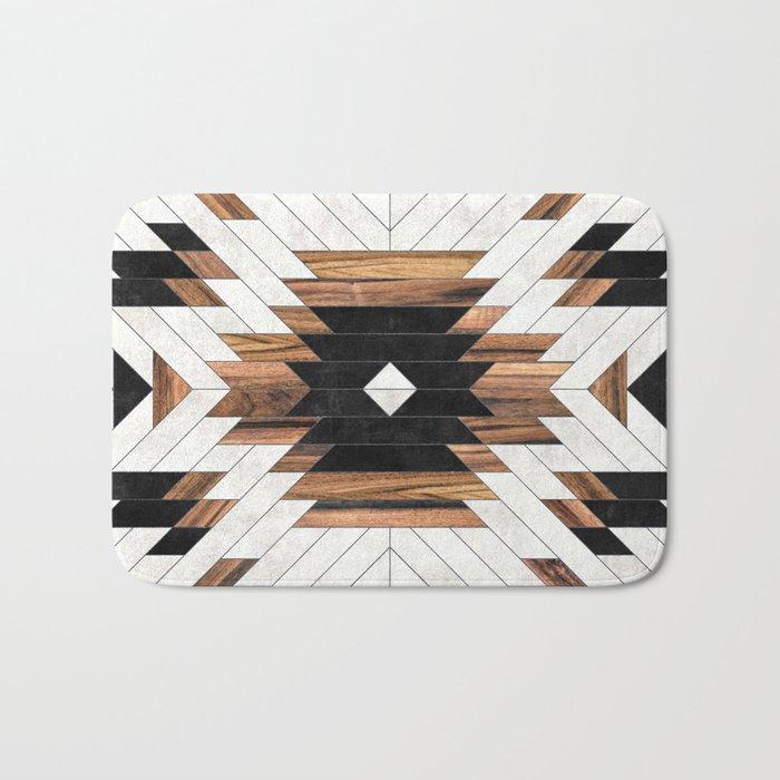 Urban Tribal Pattern No.5 - Aztec - Concrete and Wood Bath Mat