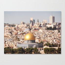 Temple Mount, Old City of Jerusalem, Israel Canvas Print