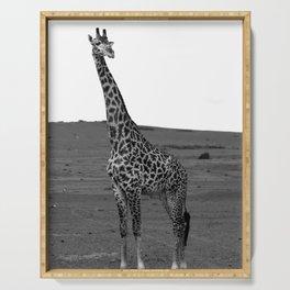 African Male Giraffe Serving Tray