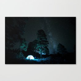 Camping out at Zion National Park's West Rim Trail at about 7,000 feet. 3 Canvas Print