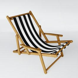 Large Black and White Cabana Stripe Sling Chair