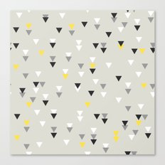 little triangles yellow Canvas Print